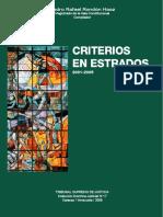 Criterios en Estrados 2001-2005