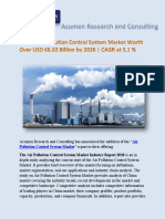 Global Air Pollution Control System Market Worth Over USD 66.62 Billion by 2026, CAGR at 5.1 %