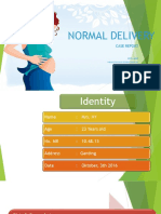 Normal Delivery Case Report