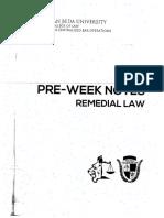 2018 Preweek Remedial Law