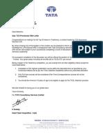 TATA Offer Letter