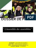 Dossier de Presse - Assemblée des Assemblées des Gilets Jaunes de Commercy