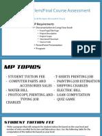 CS001L MP Topic Details