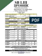 Westgate Las Vegas SuperBook Super Bowl LIII Props