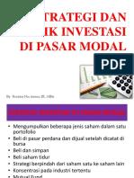Strategi dan Teknik Investasi di Pasar Modal