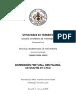 Corrección postural con pilates. Estudio de un caso