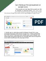 Cara Membuat Spreadsheet Di Google Docs
