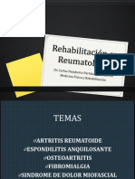 Rehabilitación en Reumatología
