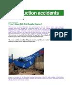 Shanghai Shipyard Accidents