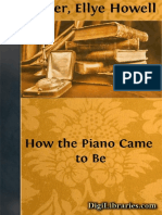 how the piano came