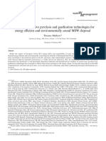 Novel and innovative pyrolysis and gasification technologies for energy efficient and environmentally sound MSW disposal