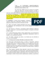Fichamento Hallak - As Categorias...
