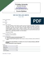 Course Syllabus ME310-FEM