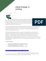 Antara Marketing Strategy vs Strategic