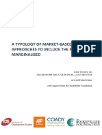 Typology Market Based Approaches