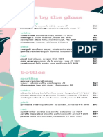 Coconut Club drink menu