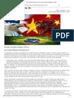 Brasil, Estados Unidos, China, Por Paulo Nogueira Batista Jr. _ GGN