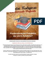 Predestinac3a7c3a3o Fatalista Ou Livre Arbitrio Livro