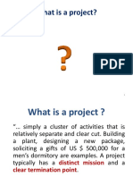 I_What is a project