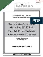 DS N° 004-2019-JUS - TUO de la Ley N° 27444 - LPAG