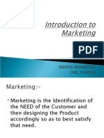 Introduction to Marketing..