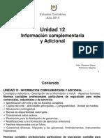 012 U.12-Información Complementaria y Adicional