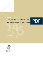 Ambrosio L. Geometric Measure Theory and Real Analysis (Pisa 2014, IsBN 9788876425233, 236pp)