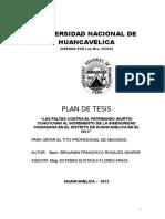 Plan de Tesis Faltas Contra El Patrimonio -Hurto