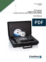 Chantillon Digital Force Gauges Dfii Series Manual English