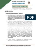 Informe Est Hidrologico Pueblo Libre