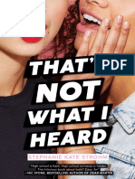 That's Not What I Heard Excerpt