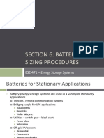 Section 6 Battery Sizing