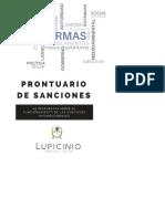 Prontuario de Sanciones Internacionales 2018