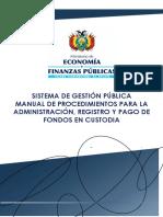 Manual Procedimiento Fondos en Custodia