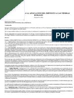 Reglamento Para La Aplicación Del Impuesto a LasTierras Rurales