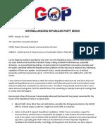 Internal AZGOP Memo  Resignation Letter of Deputy Communication Director 01.23.2019