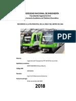 Recorrido a La Vía Principal de La Línea 1 Del Metro de Lima