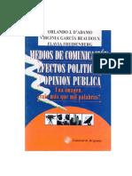 Medios de comunicación,efectos políticos y opinión pública - OrlandoJDAdamo