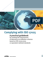 Complying With ISO 17025 a Practical Guidebook