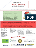 Food Drive Flyer - Community