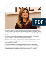 11-12-2018 Espera Gobernadora no aplicar veto presupuestal - Crítica
