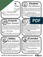Old Dragon - Cartões de Temas de Classe