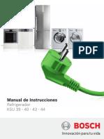 Manual de Instrucciones Refrigerador KSU 39-40-43-44