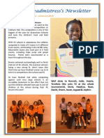 Newsletter No 63 - 25th January 2019