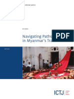 ICTJ-Myanmar Navigating Paths to Justice in Myanmar's Transition Report-2014