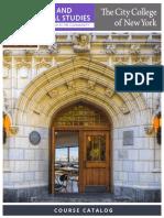 CCNY CPS 2019 Catalog