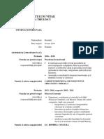CV Mihaela Triculescu