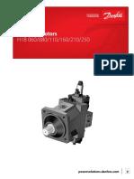 Sauer Danfoss H1B Bent Axis Motor Service Manual
