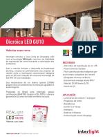 Dicroica Gu10 Mr16 Datasheet