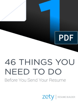 46 Things You Need To Do Before You Send Your Resume Resume